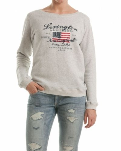Tröja Lexington sweatshirt michelle light warm grey melange från Lexington
