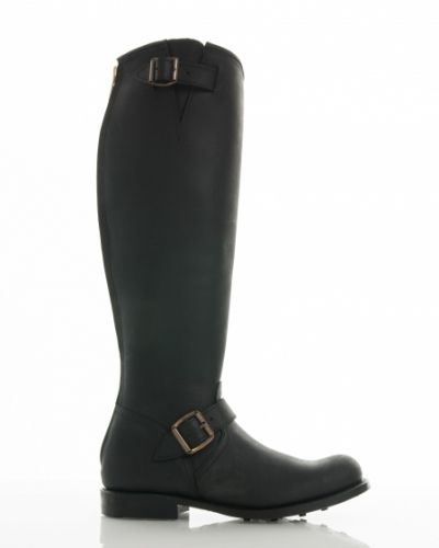 Primeboots engineer high 14 black gold zip Primeboots sko till dam.