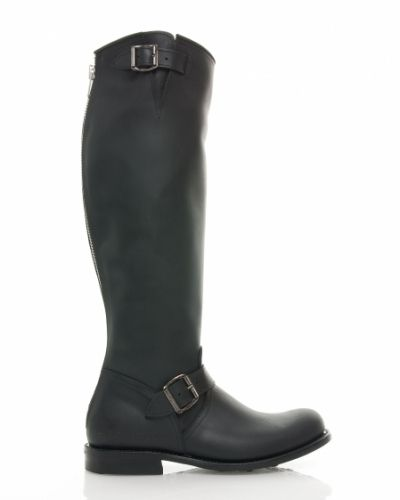 Primeboots engineer high 14 black silver zip Primeboots sko till dam.