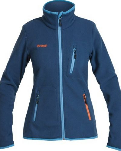 Cecilie Warm Fleece Jacket XS, Dark Steel Blue Bergans fleecejacka till dam.