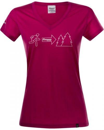 Exit Wool Lady Tee XS, Hot Pink Bergans t-shirts till dam.