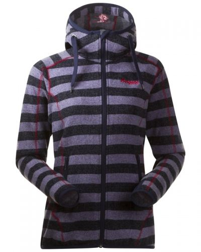 Vardagströja Humle Lady Jacket L, Navy/Dustyblue Striped/Hot Pin från Bergans