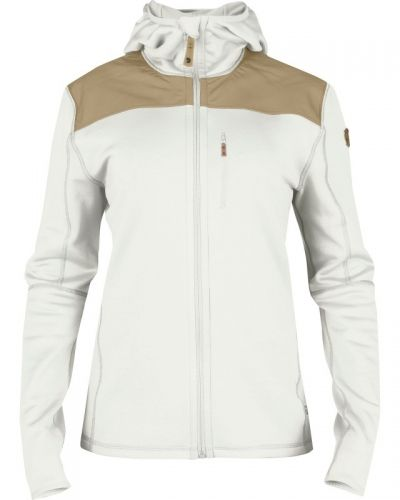 Keb Fleece Jacket W. L, Ecru Fjallraven fleecejacka till dam.
