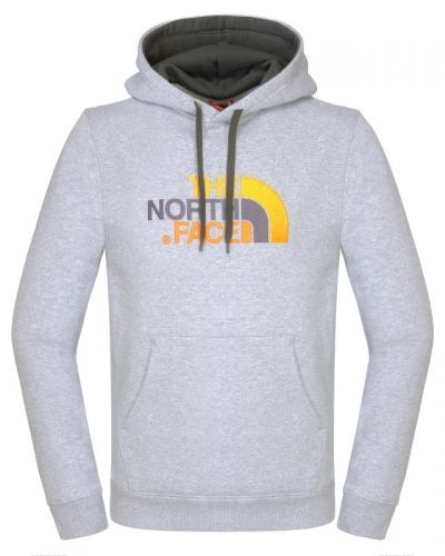 Men's Drew Peak Pullover Hoodie S, Heather Grey/Asphalt Grey The North Face vardagströja till herr.