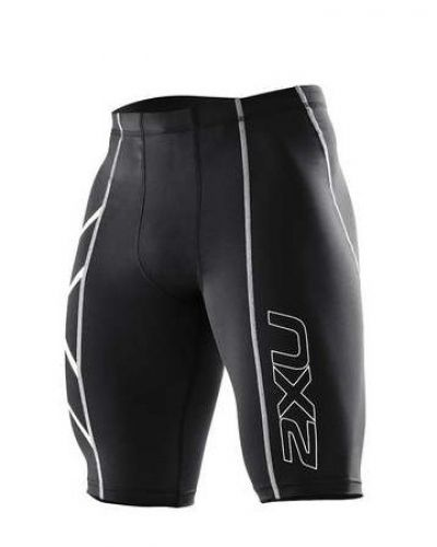 Men's Compression Short M, Black/Silver Logo 2XU korta träningstights till herr.