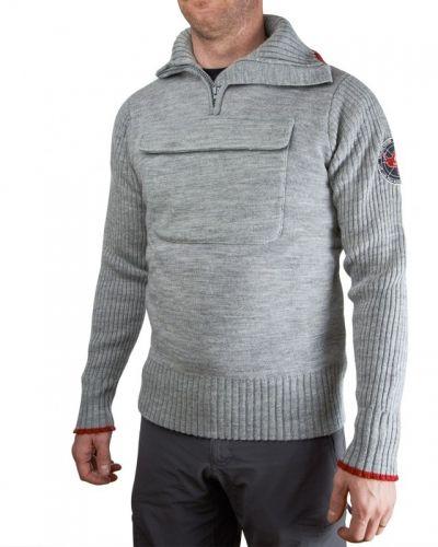 Opal sweater w/zip XL, Grey Melange Ulvang vardagströja till herr.