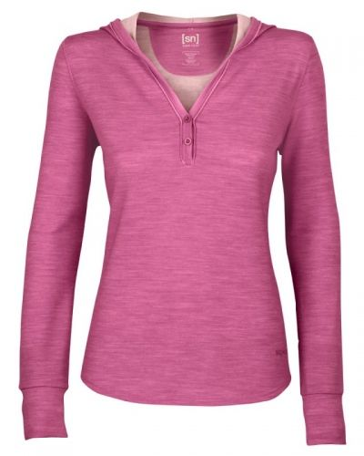 super.natural W Lifestyle Buttoned Hoody XL, Vivid Viola