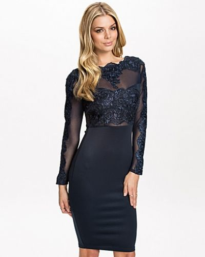 Ax Paris Long Sleeve Detail Bodycon Dress