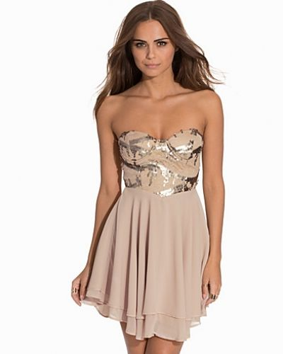 Bandeauklänning 3D Rose Detailed Bandeau Dress från Te Amo