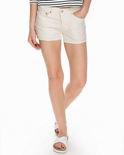 501 Short Vintage White Levis jeansshorts till tjejer.