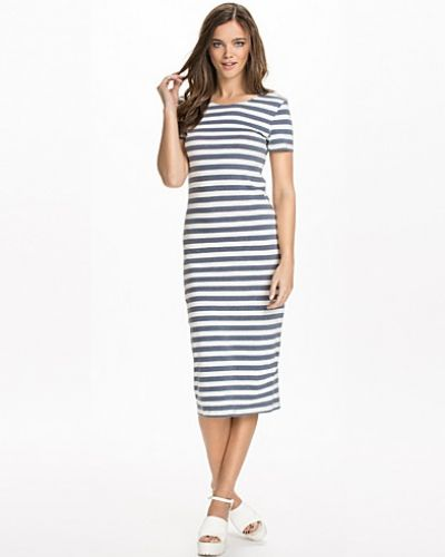ONLY Abbie Striped Calf Dress