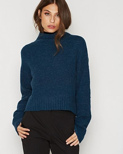 T By Alexander Wang Alpaca Knit Mock Neck Cropped Pullover