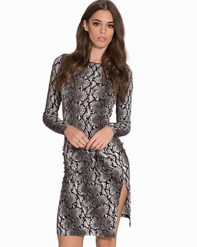 MICHAEL Michael Kors Anaconda LS Drape Dress