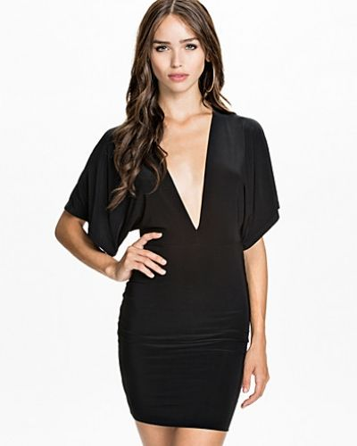 Club L Essentials Angel Wing Sleeve Dress