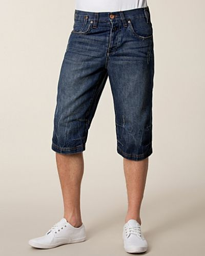 Solid Arch Denim Shorts