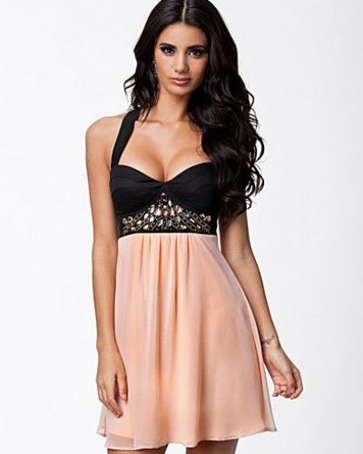 Elise Ryan Baby Doll Trim Dress