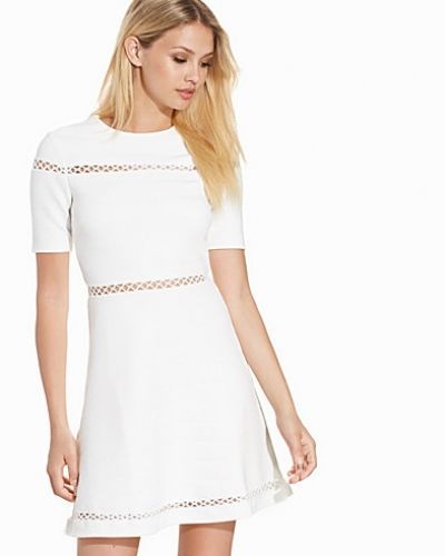 Topshop Bandage Embroidered Skater Dress