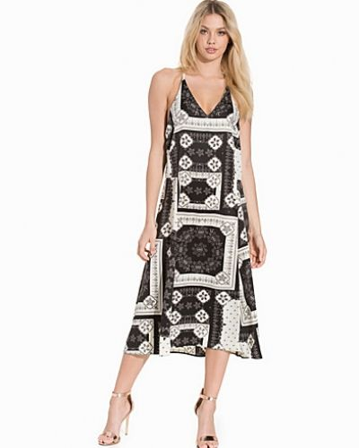 Topshop Bandana Print Ring Slip Dress