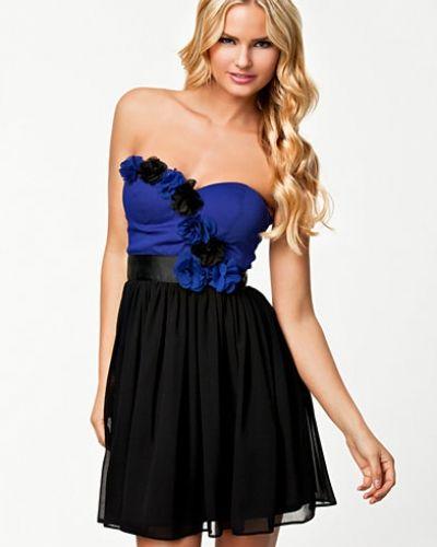 Elise Ryan Bandeau Flower Trim Dress