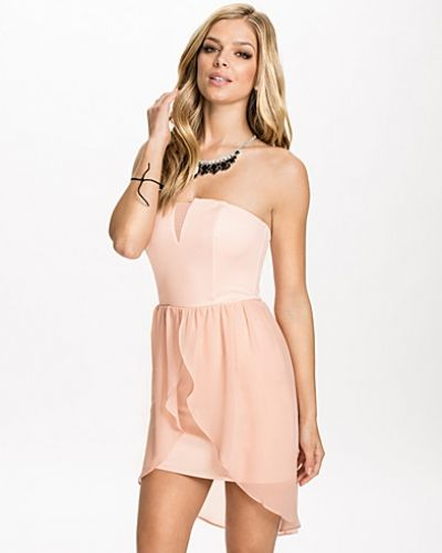 John Zack Bandeau Overlay Dress