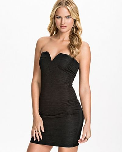 Ax Paris Bandeau Ruffle Fabric Bodycon