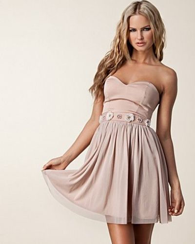 Elise Ryan Bandeau Waist Trim Dress