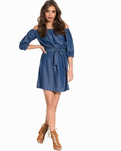 Miss Selfridge Bardot Belted Denim Dress