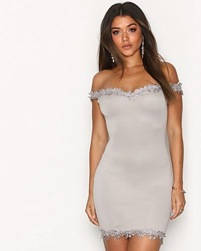 Ax Paris Bardot Lace Detail Dress