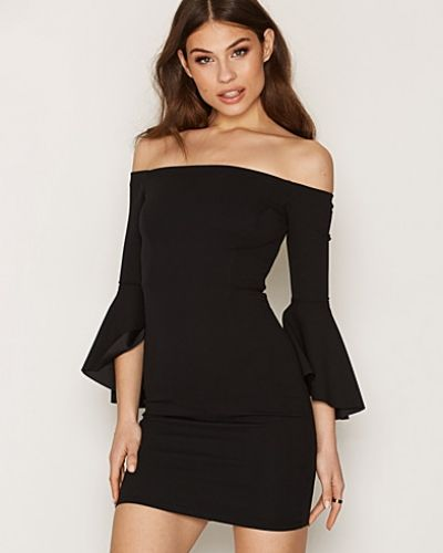 Bardot Neck Bell Sleeve Bodycon Dress New Look fodralklänning till dam.