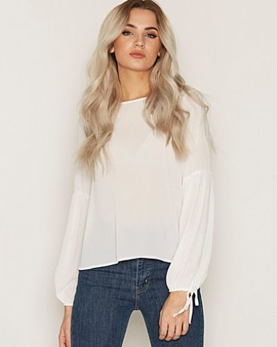 Bell Tie Sleeve Long Sleeve Top New Look vardagsblus till dam.