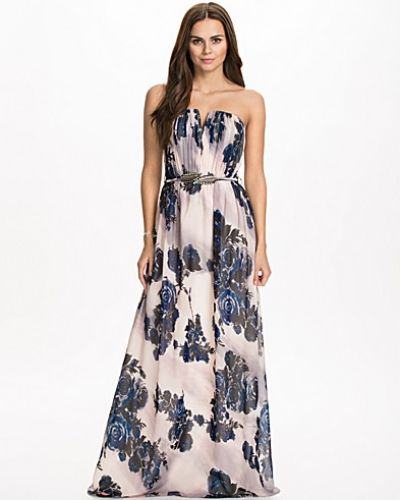 Little Mistress Belted V Plunge Maxi Dress