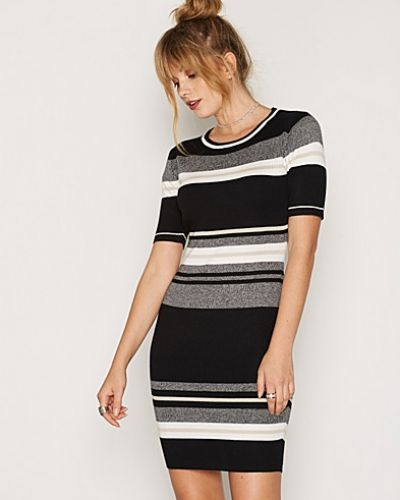 Black Stripe Belted Shirt Dress New Look klänning till dam.