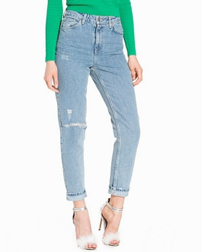 Topshop Bleach Rip Mom Jeans