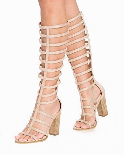 Block Heel Gladiator Boot Nly Shoes högklackade till dam.