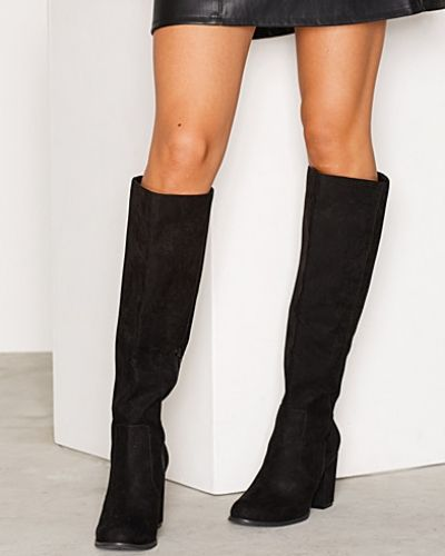 Block Heel Knee High Boot Nly Shoes känga till dam.