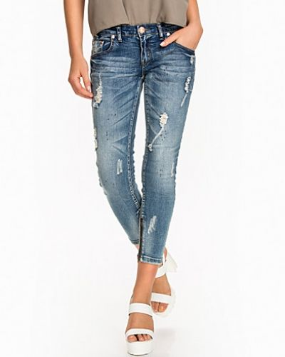 Blue Blonde Freebirds II One Teaspoon straight leg jeans till dam.