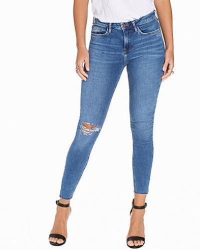 New Look Blue Notch Hem Skinny Jeans