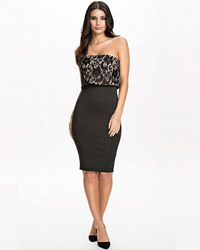 Ax Paris Bomded Lace Overlay Bodycon Dress