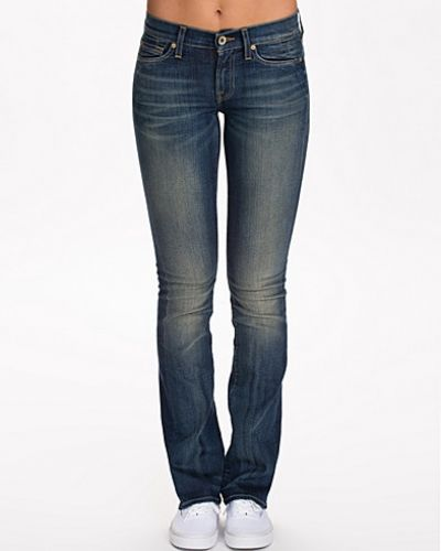 Blå bootcut jeans från 7 for all mankind till dam.