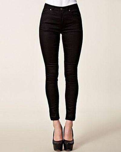 Svart slim fit jeans från Won Hundred till dam.
