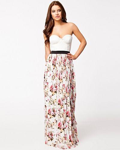 Bustier Sweetheart Lace Floral Maxi Dress Rare London maxiklänning till dam.