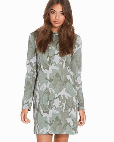 NLY Trend Camo Hoodie Dress