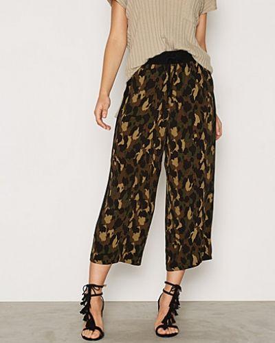 Topshop Camo Print Wide Leg Trousers