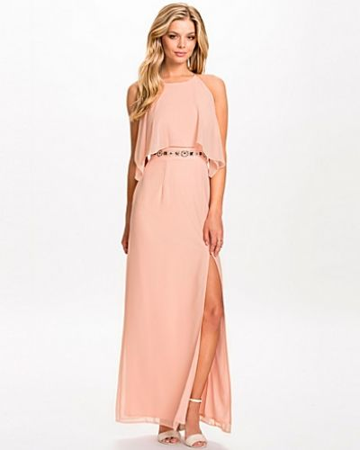 Elise Ryan Cape Maxi Waist Trim Dress