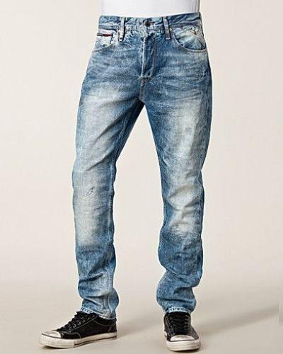Blå straight leg jeans från Hilfiger Denim till herr.