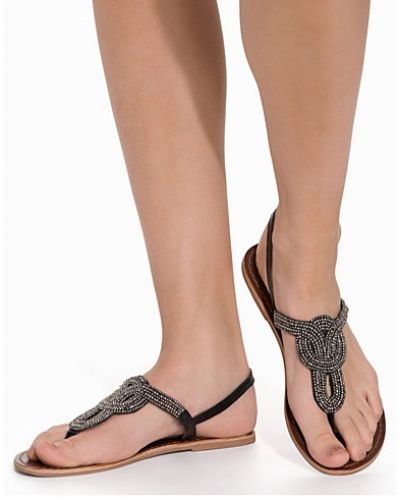 Pieces CARMEN LEATHER SANDAL BLK