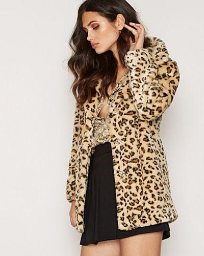 Kappa Casual Leopard Faux Fur Coat från Topshop