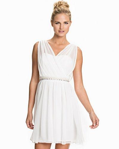 Elise Ryan Chiffon Cross Front Trim Dress