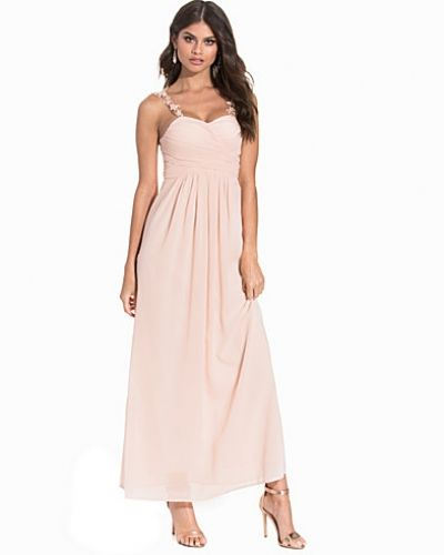 Club L Chiffon Pleated Overlay Maxi Dress