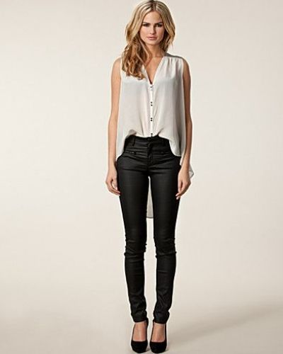 Filippa K Coated Zip Jeans